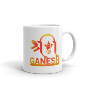 Ganesh Inside Ganesh Orange Mug